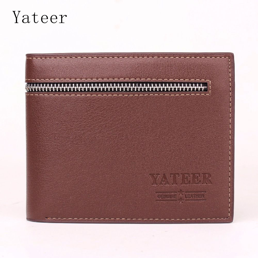 Yateer Leather Wallet Men Quality Assurance Pu Leather Purse Credit Card Holder Male Wallets Small Wholesale Price Cheap Casual(China (Mainland))