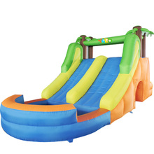 YARD New Design Giant Inflatable Games Long Doule Inflatable Slide And Pool Inflatable Bouncy(China (Mainland))