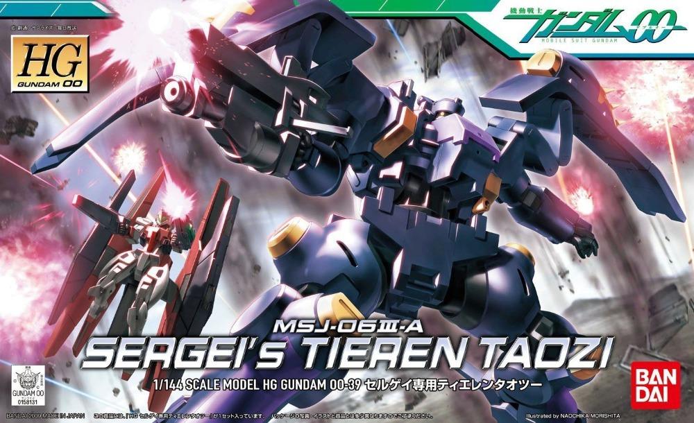 Bandai Gundam 00 1/144 HG #39 MSJ-O6III A Sergei's Tieren Taozi Gundam Model Kit Free Shipping #58131(China (Mainland))
