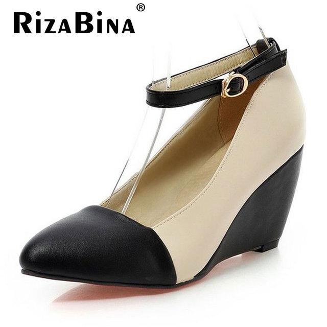 Женщины клин лодыжки ремень туфли на каблуках леди повседневная весна женский галстук-бабочка ...