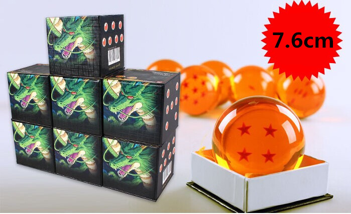 7.6cm (3 inch) Color Box Packing Dragon Ball Z GT Action Figures 7x JP Anime Dragon Ball Imagine Dragon 7 Stars Best Gift(China (Mainland))