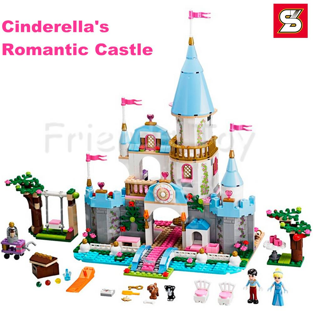 669pcs Cinderellas Romantic Castle Princess Series Building Brick Block Minifigure Girls Friends Toy Compatible With Lego 41055<br><br>Aliexpress
