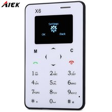 Ultra Thin AIEK AEKU X6 Mini Cell Card Phone Slim Thin Phone Student Unlocked Small Mobile Phone Pocket Phone M5(China (Mainland))