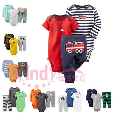 20 Models Carters Baby Boys s Clothings Sets Baby Long Sleeve Short Sleeve Bodysuits Pants 3pcs