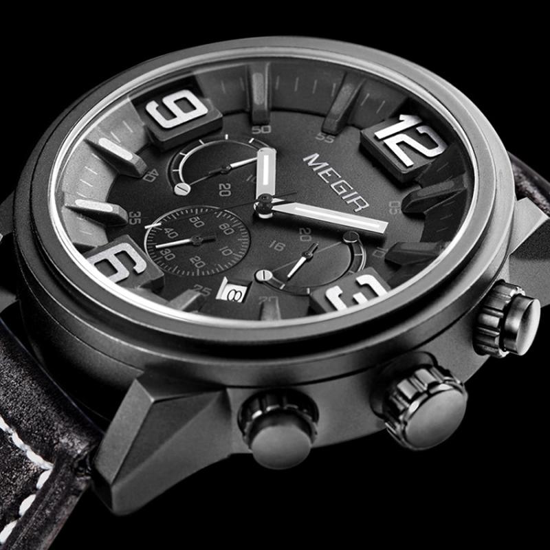 Megir Original Famous Brand Mens Watches 2016 Luxury Brand Hot Sport Boys Watches Luxury Brand Watches Chronograph Clock Men(China (Mainland))