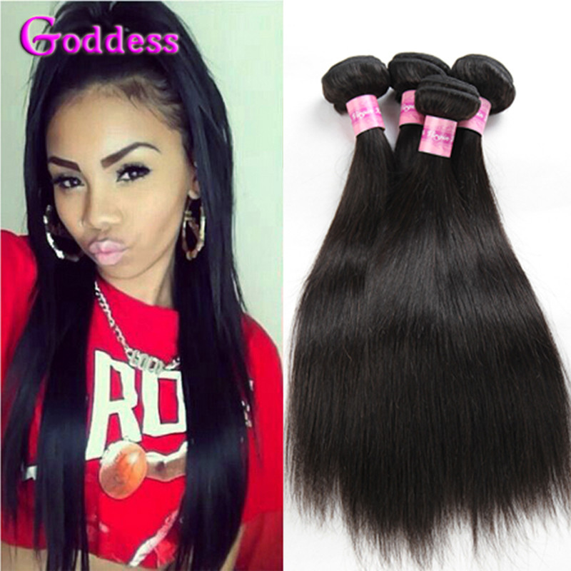 Iwish Brazilian straight hair 4 pcs 7a unprocessed virgin Brazilian hair virgin hair bundle deals Brazilian virgin hair straight