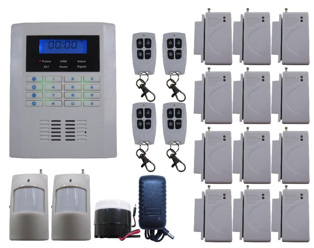 K33 Quad-Bands 850/900/1800/1900MHz GSM PSTN Wireless Smart DIY Home House Alarm Burglar Thief System Auto SMS Dial(China (Mainland))