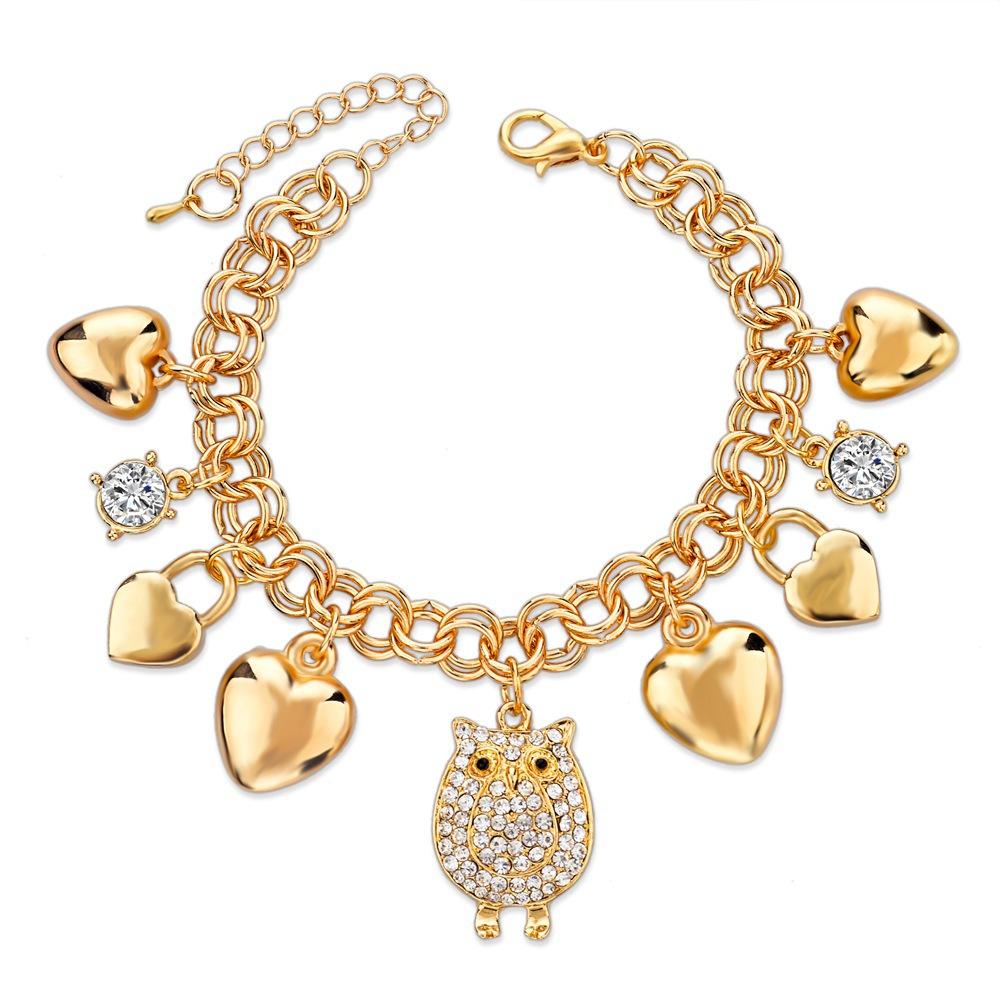 2015-Luxury-Gold-Bracelets-For-Women-Fashion-Crystal-Owl ...