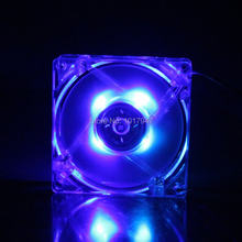 GDT Blue LED PC Computer Case DC 12V Brushless Cooler Cooling Fan 80mm 80*80x25mm 8025S 4 Wire Heatsink - STC store