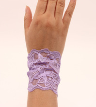2016 New fashion women hair accessories Lace ribbon strap bracelet DIY jewelry Lady elastic western popular hand strap retail(China (Mainland))