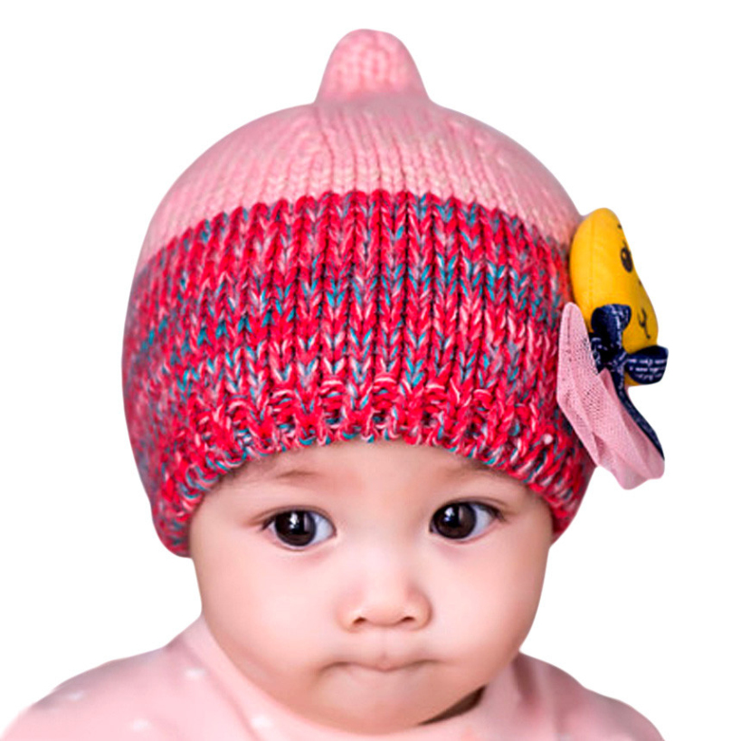 Amazing Baby Girl Hat Winter Crochet Knitted Beanie Toddler Cap for 1 -5 Years Old Kids(China (Mainland))