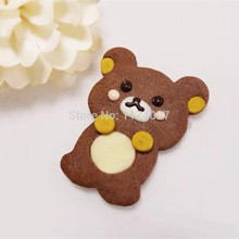 Lovely Raccoon Super cute Guitar cartoon stainless cookie Bear cake tools Squirrel Metal biscuit mold kitchen accessories