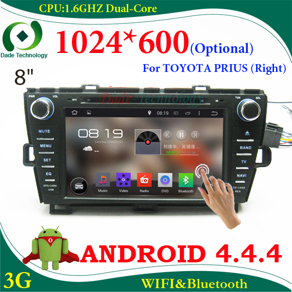 2 din car dvd player android 4.4 car radio gps Navigation for TOYOTA PRIUS 2009-2013 ( right ) car multimedia car stereo WIFI 3G(China (Mainland))