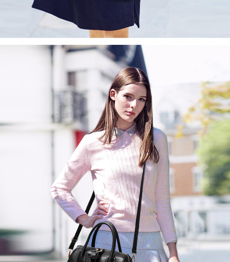 Fashion Luxury Barrel-shaped Bag 2016 New Designer Chequer Bag Classic Plaid Handbag Women Solid Color Elegant Shoulder Bag