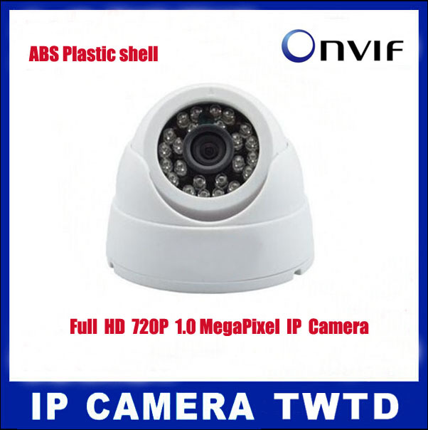 IP Camera mini 1280*720P Security HD Network CCTV Camera 1.0 Mega pixel indoor IR-cut dome Camera ,ONVIF2.0 H.264 free shipping(China (Mainland))