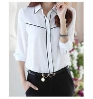 2015 new summer fashion women chiffon blouse shirt lady work wear blouses woman office shirts