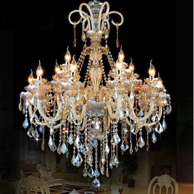 Crystal Chandelier Online India: Large Crystal Chandelier 18 Arms Luxury Crystal Light
