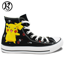 Pikachu Pokemon Painted Shoes Anime Shoes Art Work Custom Shoes Mens Womens Christmas Gifts Birthday Gifts