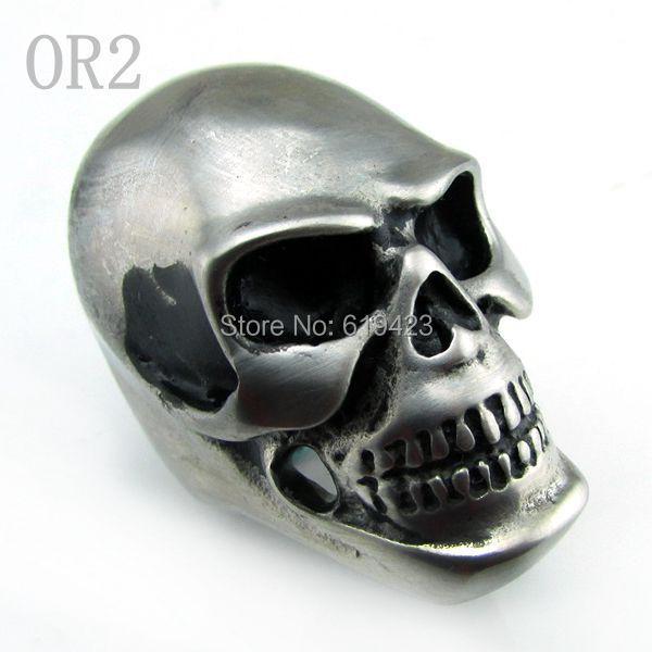 3pcs/ lot Punk Men's Big Heavy Skull Lord 316L Stainless Steel Biker Ring US Size 8, 9,10,11,12,13,14# - C&T Store store