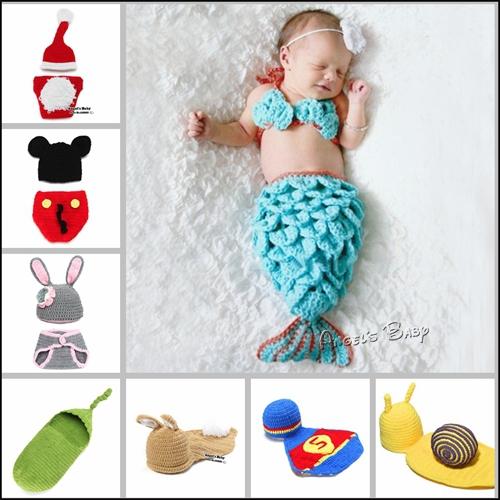 Crochet Beanie Baby Caps,Newborn Photography Props,Handmade Bebe Outfits,Casquette Enfant,Toucas Infantil,Kid Hat,Costume,#A0015(China (Mainland))