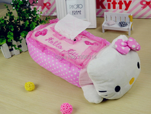freeshipping Kawaii lace Rose car using Tissue Paper storage Box Holder Cover home Decoration(China (Mainland))