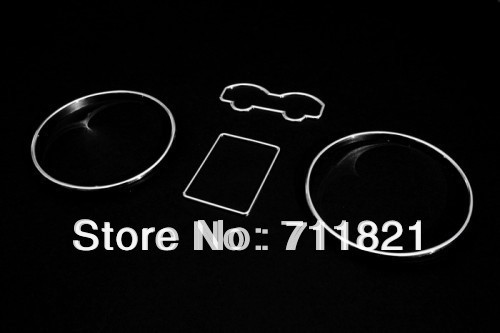 Car Styling Chrome Dashboard Gauge Ring Set For Volkswagen For VW Jetta / Bora MK4(China (Mainland))