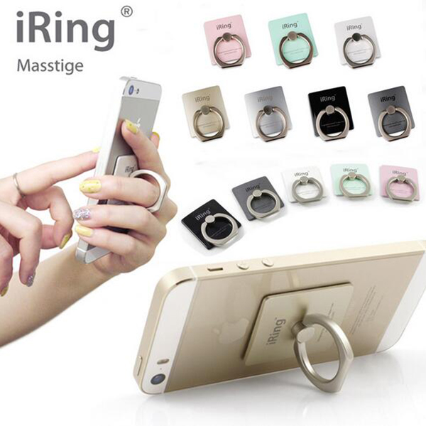 8 Colors iRing Holder Universal Mobile Phone Holder 3D Metal Ring Stand Finger Grip Stand With Retail Box For Iphone Samsung(China (Mainland))