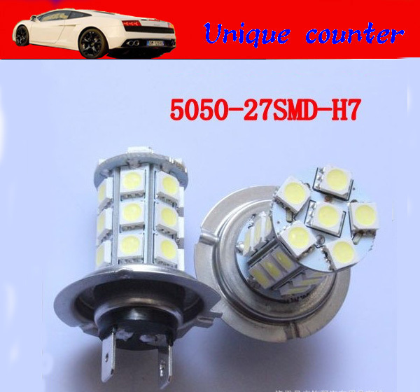 30X H7 27 SMD 5050 LED FOG LAMP 27SMD High Beam Daytime Running Light Car Auto Lamp Fog Light tail / head light