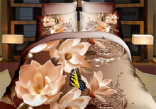 New 3D bedding set animals,flower and Paris night ,bed linen,bedding-set,family set 4pcs quilt/bed sheet/pillowcases queen size(China (Mainland))