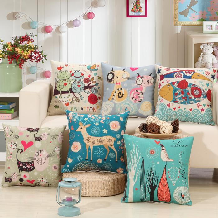 2016 Animal Cushion Cover For Sofa Decorative frog Throw