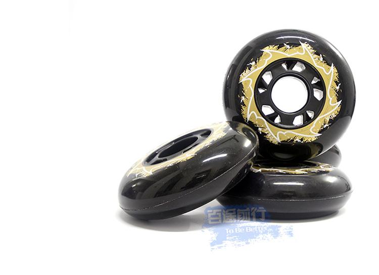 free shipping roller skates wheels PU 85A black 8 pcs/lot<br><br>Aliexpress