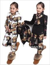 2015 Hot Sale NEW Arrival Children Girl Clothing Set Three piece Tiger Head Vest T shirt