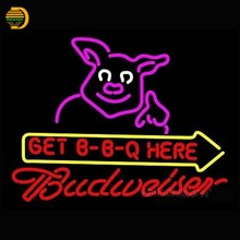 Budweiser Get BBQ Here Neon Sign Neon Bulbs Arcade Beer Bar Pub Handcrafted Personalized Shop Display Lamp Window Lights 24x20(China (Mainland))