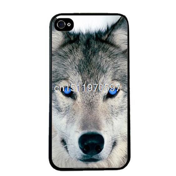 Hot Sales Phone Case Cover iphone 5 5s 4 4s Fox Blue Eyes Design Painted Hard PC Mobile phone Bags fundas - ShoppingBar store