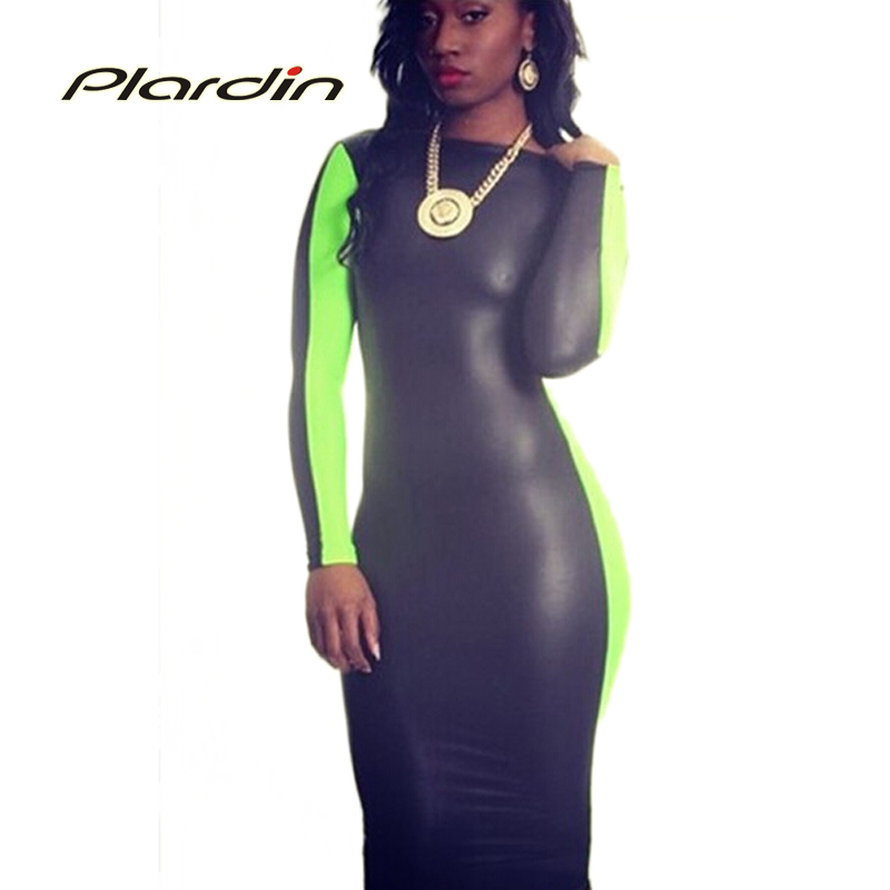black green sexy 2014 ladies scoop back leatherette