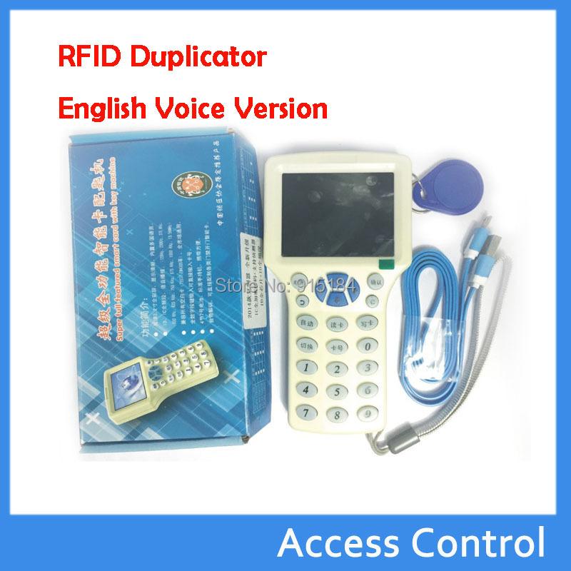 English Voice 10 Frequency RFID 125 KHz -13.56 MHz IC NFC /ID Card RFID Copier Reader& Writer/Programmer, RFID Duplicator(China (Mainland))