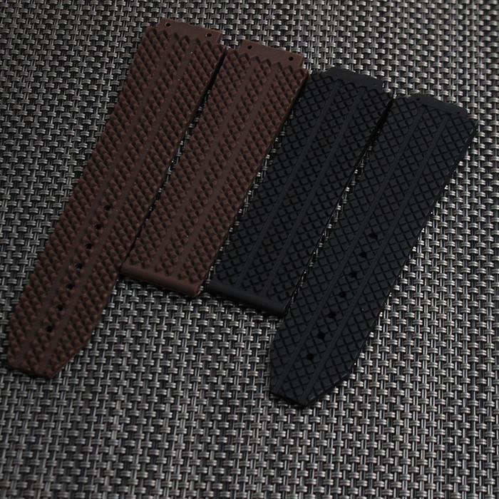 Новый нержавеющей стали высокого качества Серебряный пряжкой черный дайвинг силиконовая резина смотреть ремешок ремешок