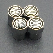 NEW HOT Free Shipping Wholesale Metal Wheel Tire Valve Caps Stem Air For VW VOLKSWAGEN CC R GTI Passat Golf polo mk5 mk6 Tiguan(China (Mainland))