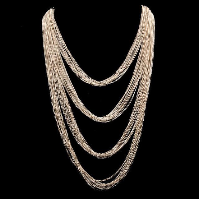 Ожерелье новинка мода многослойных кисточкой золотые цепочки длинные оптовая продажа ...