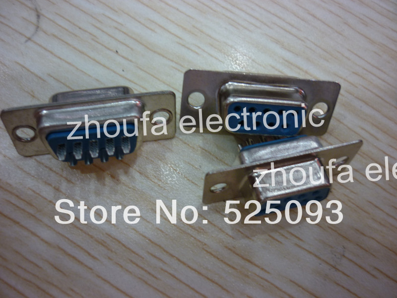 Free Shipping D-SUB DB DR 9T 9P serial connector socket socket (VGA 18.4) DB9 socket Computer serial port IN STOCK(China (Mainland))
