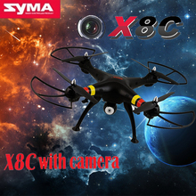 Black SYMA X8C 2.4G 4CH 6-Axis RC Drone Quadcopter 2 Megapixels drones vith camera HD Big Quad copter Hobby Helicopter RTF Drone