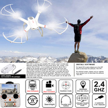 2016 New Hot Drones MJX X101 RC Quad-copter 2.4G 6-Axis Gyro Headless Mode 3D Roll One Key Return With Camera HD RC Helicopter