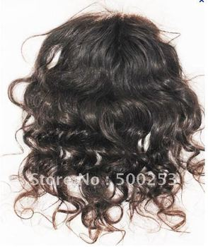 """Curly Off Black Color  Indian Virgin Hair Lace Top Closure (4"""" x 4"""")"""