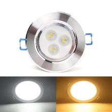 3 LED SMD 3W  Dimmable Recessed Ceiling Downlight Spot Bulb Lamp Light W/ Driver #70078(China (Mainland))