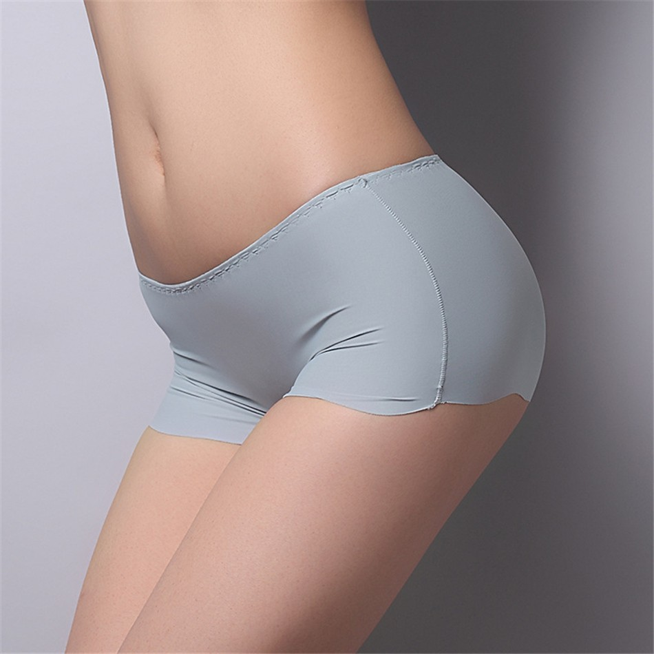 8 Colors 2017 New Arrival Ice Silk Seamless Underwear Cool Breathable Safety Panties Boy Shorts for Women Girls  Pants 1 (4)