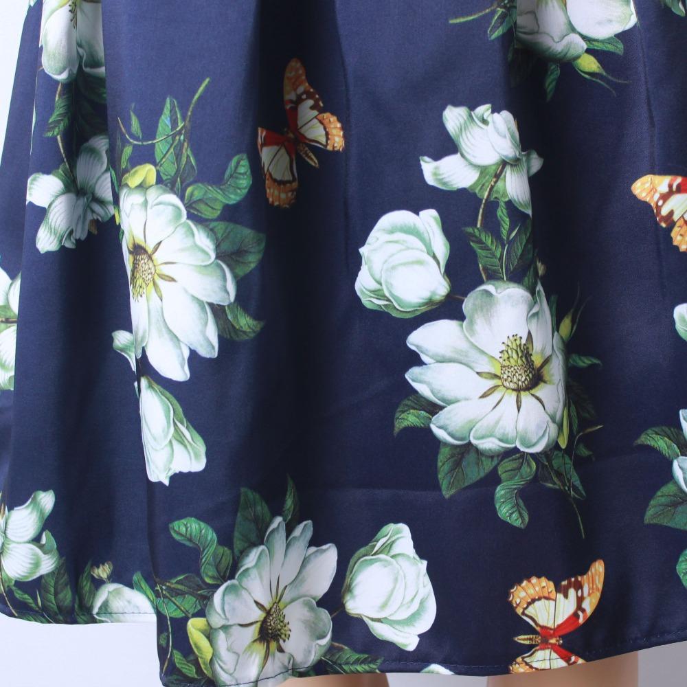 HTB1BQGyQFXXXXXDXFXXq6xXFXXXf - GOKIC 2017 Summer Women Vintage Retro Satin Floral Pleated Skirts Audrey Hepburn Style High Waist A-Line tutu Midi Skirt