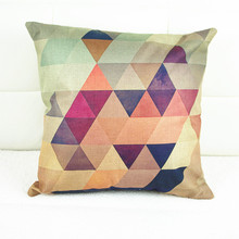 Manufacturers custom color geometric patterns minimalist style complex linen pillow cushion cover textile wholesale cojines(China (Mainland))