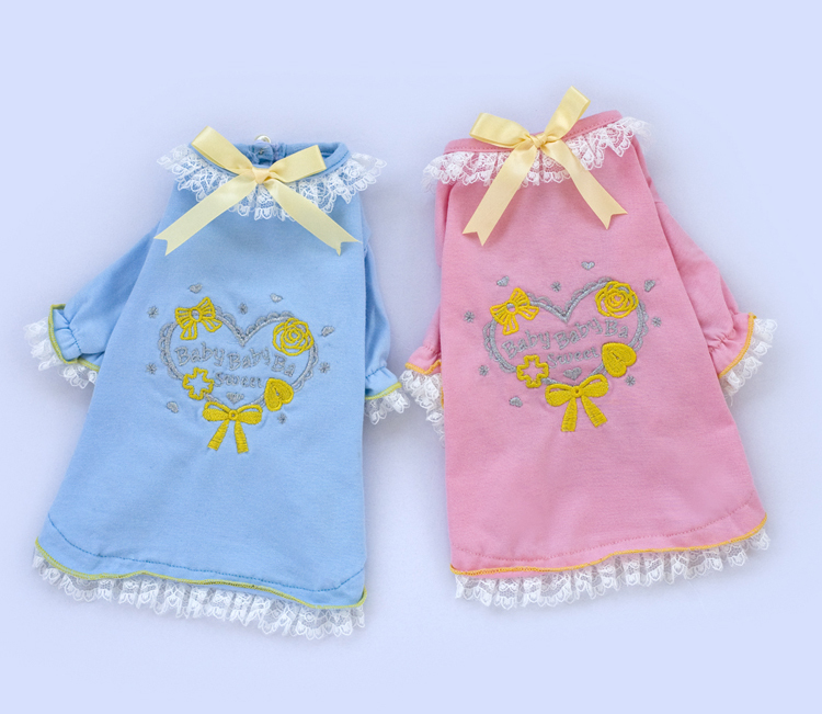 1 PC Heart T-shirt Embroidery Thin Edge Blue Pink Factory Produce Fast Shipping High Quality E007(China (Mainland))