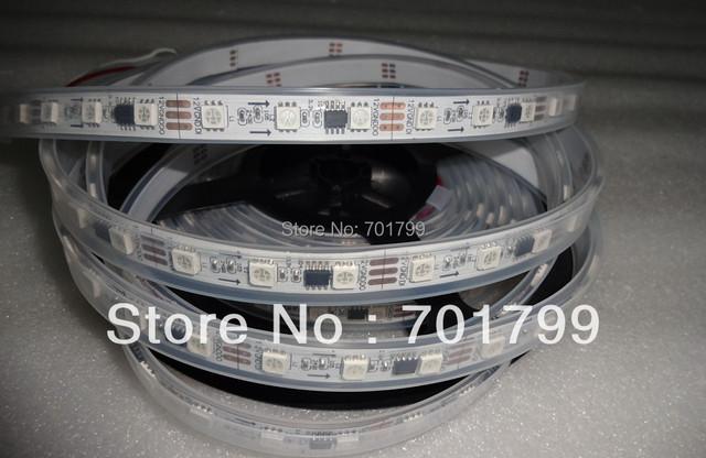 5m DC12V 60leds/m 20pcs ws2811 ic/meter(20pixels) led digital strip;IP68;waterproof in silicon tube