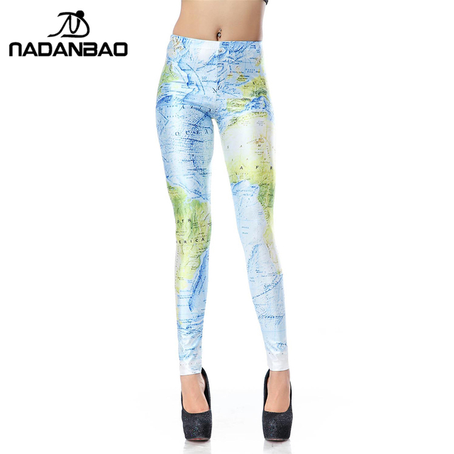 Черный Milk Leggins World Map Leggins Design 3d Digital Print Fitness Женщины Leggings ...